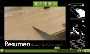 Como instalar parquet sint tico sistema click tocamos madera - Como colocar parquet sintetico ...